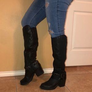 Shoes - Knee high black riding style boots